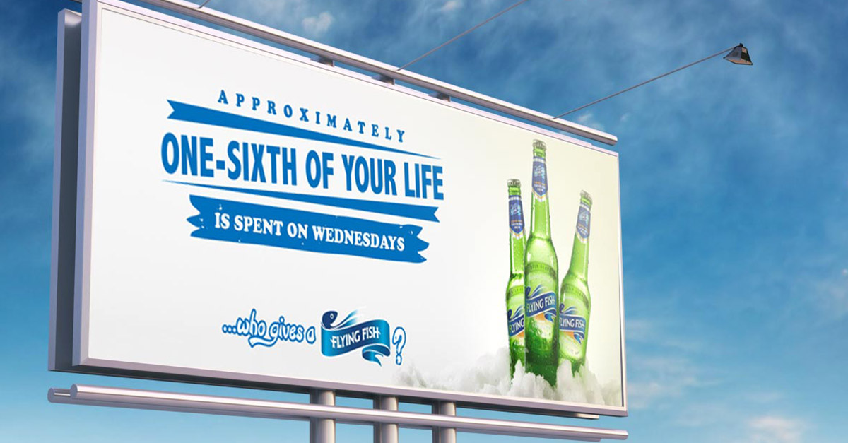 flying fish outdoor advertising wednesdays example image